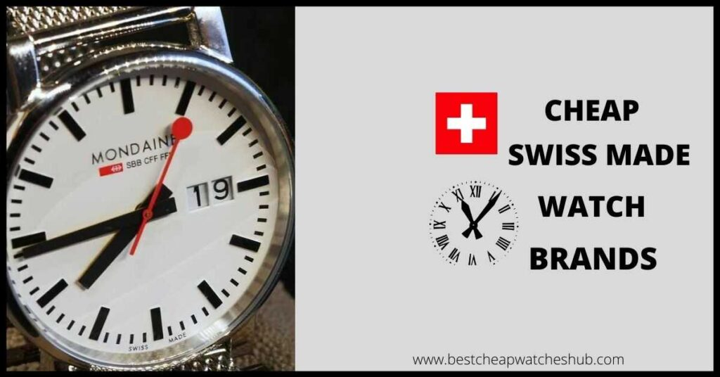 cheap swiss made watch brands